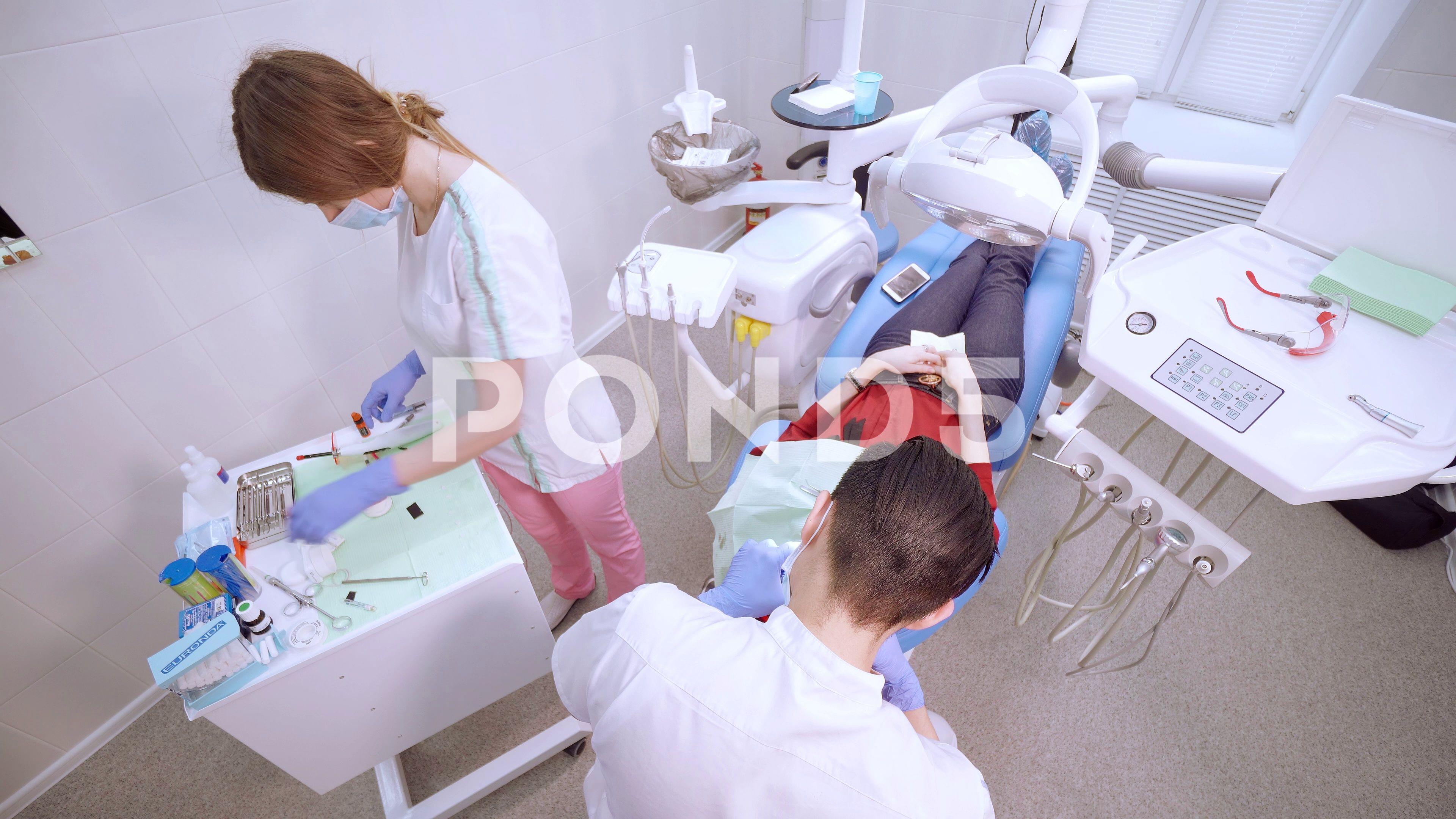 Office dentist clinic  White walls , modern medical equipment