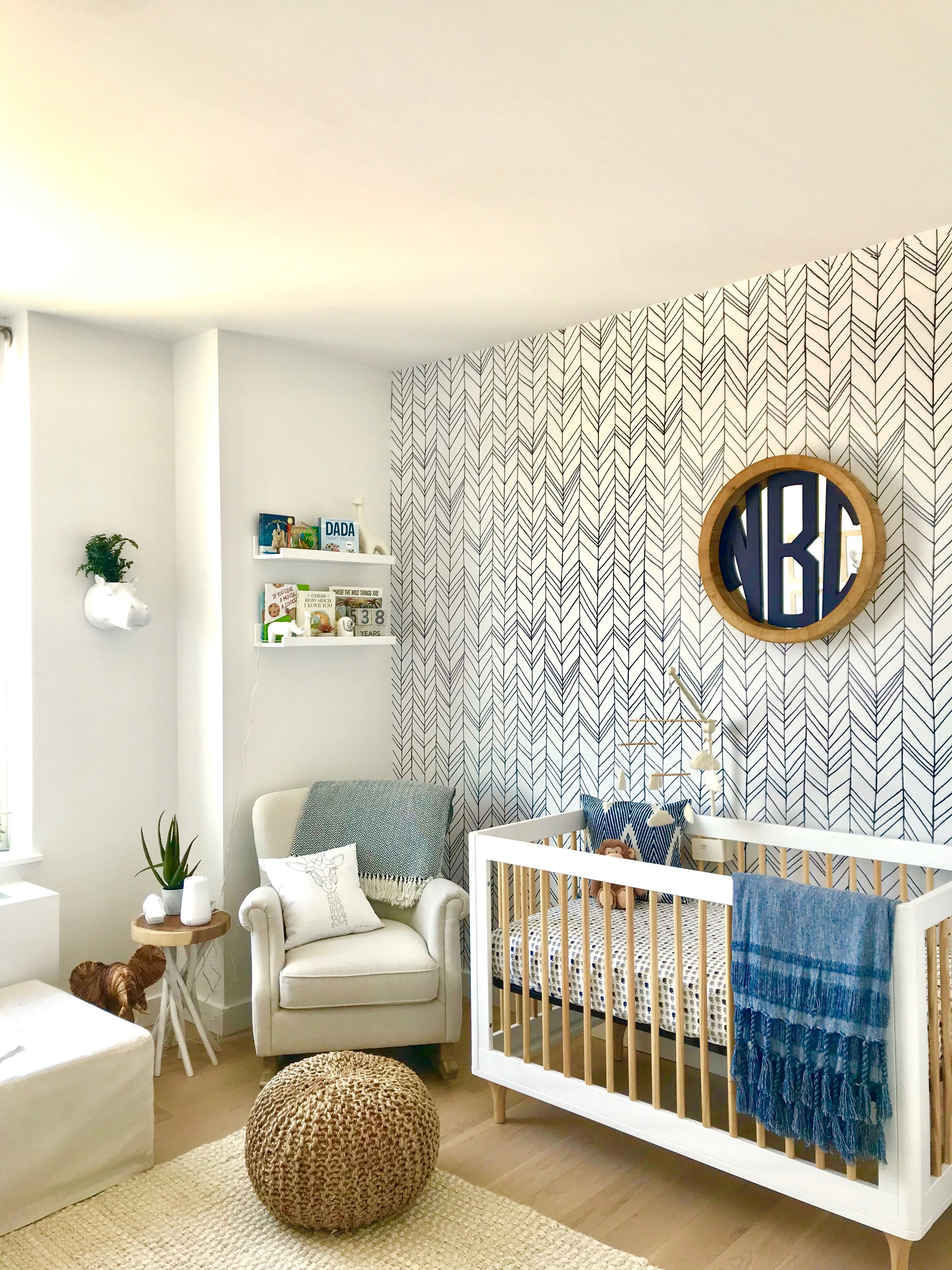 Modern Baby Boy Room: Modern Safari Baby Boy Nursery