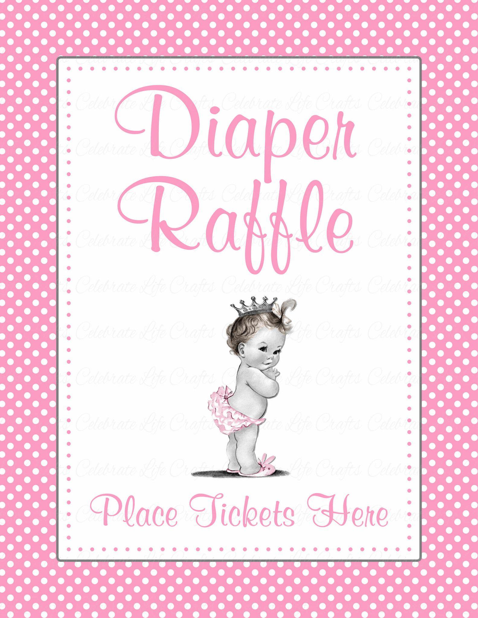 diaper raffle tickets  u0026 sign