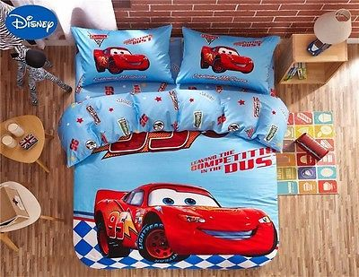 Twin & Queen Size Cars Lightning Mcqueen Theme Duvet Cover