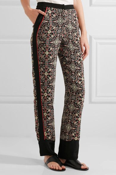 Printed Silk Trousers Talitha KKT9ptNwq1