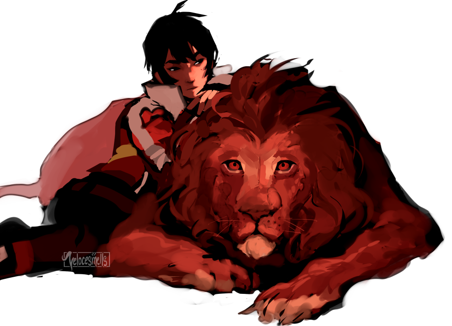 Keith And His Realistic Red Lion From Voltron Legendary