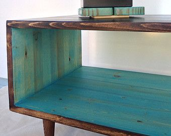 the slim: handmade coffee table mid century modern cherry cola and