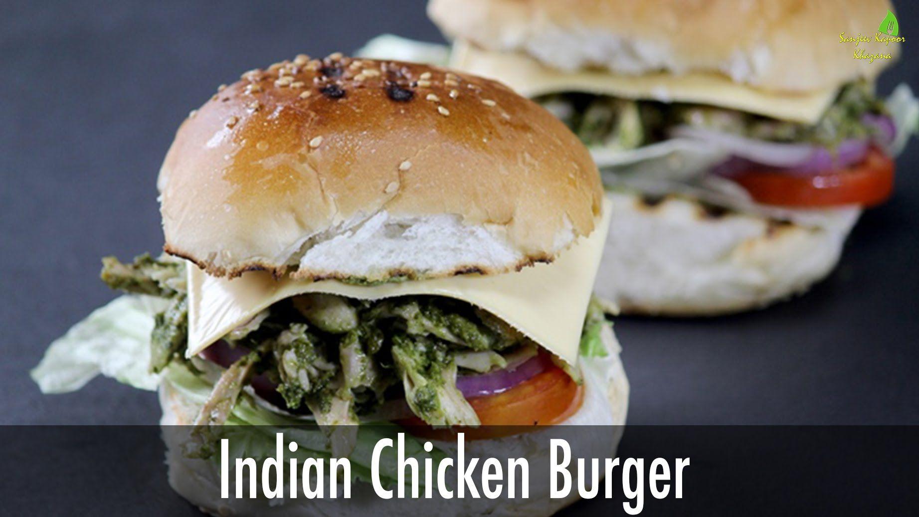 Interesting indian chicken burger sanjeev kapoor khazana lunch food forumfinder Choice Image