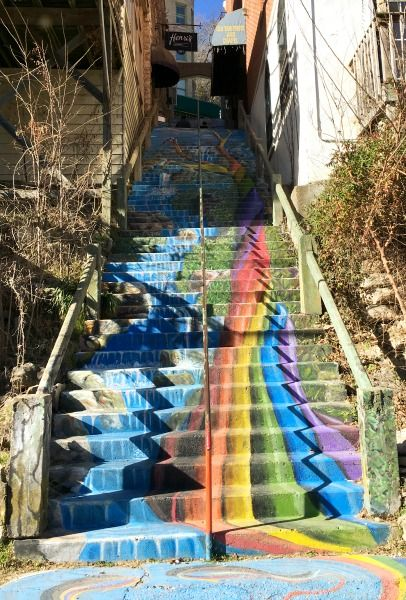 the rainbow staircase in eureka springs ar adventures. Black Bedroom Furniture Sets. Home Design Ideas