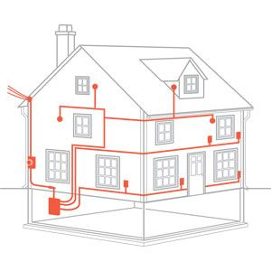 illustration: ian worpole | thisoldhouse com | from from the ground up:  electrical wiring