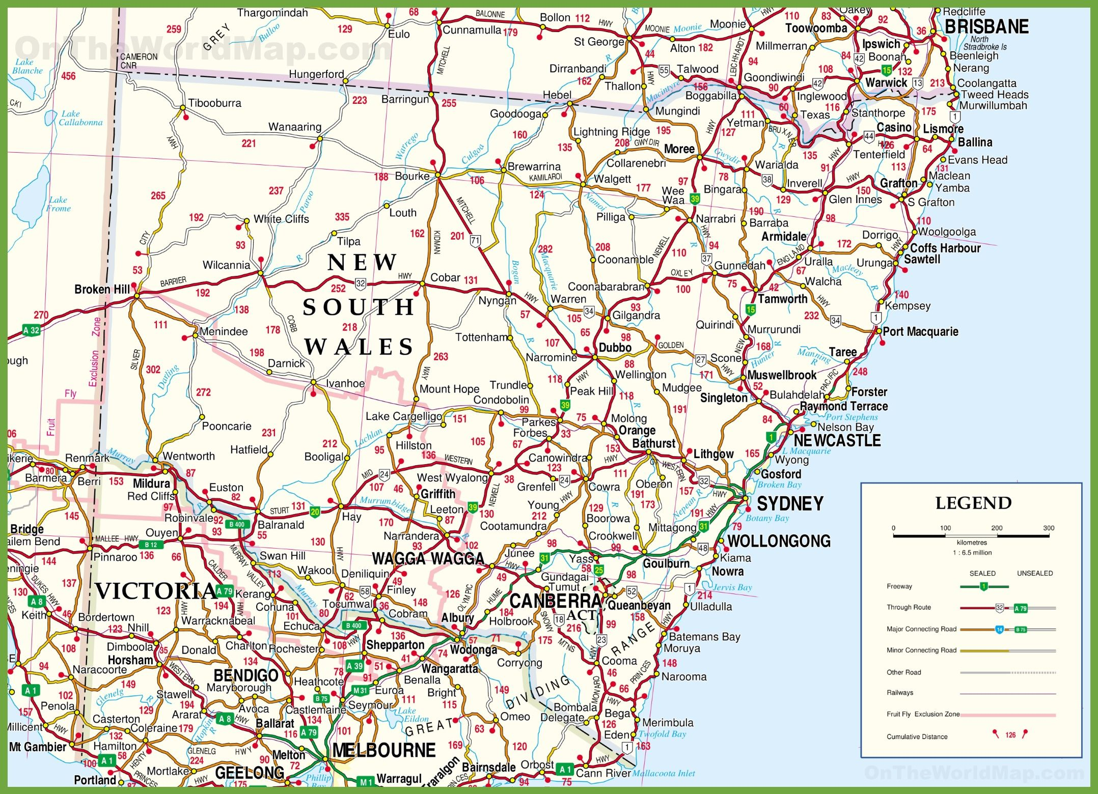 Detailed Map Of Australia.Large Detailed Map Of New South Wales With Cities And Towns Tv