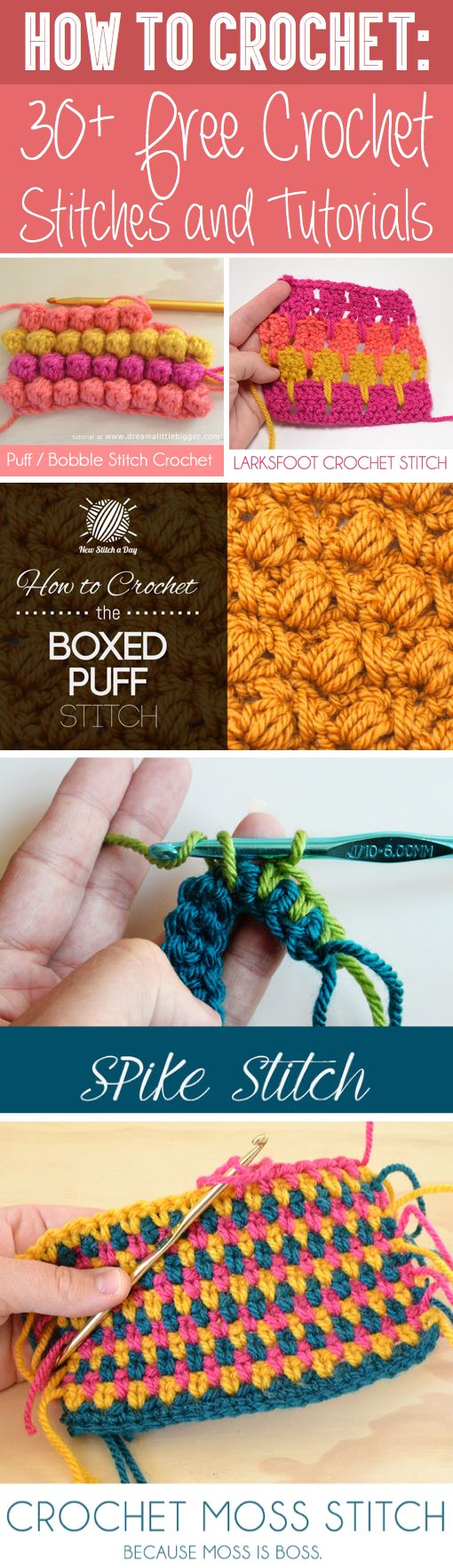 How+To+Crochet:+30++Free+Crochet+Stitches+and+Tutorials | Crochet ...