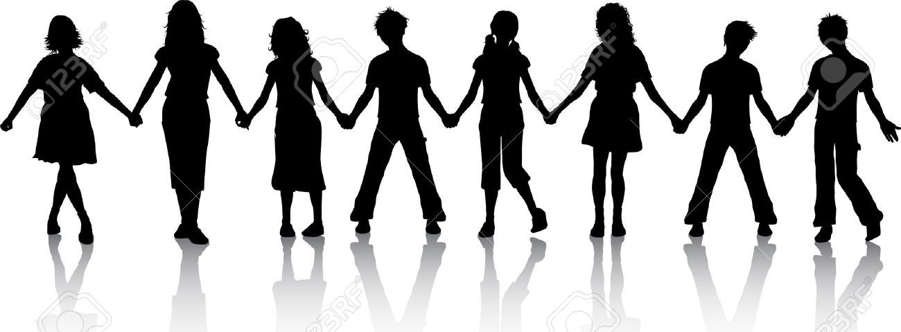 People Holding Hands Silhouette Clipart 67px Image 14 Children Holding Hands People Holding Hands Hand Silhouette