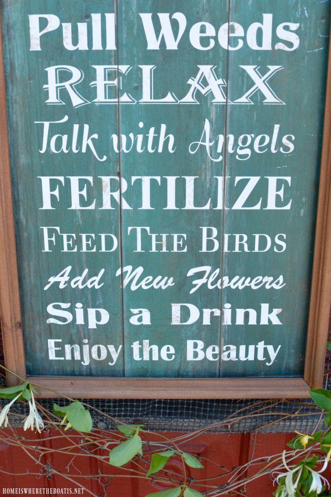 Charmant Garden Rules Sign   Homeiswheretheboatis.net #pottingshed