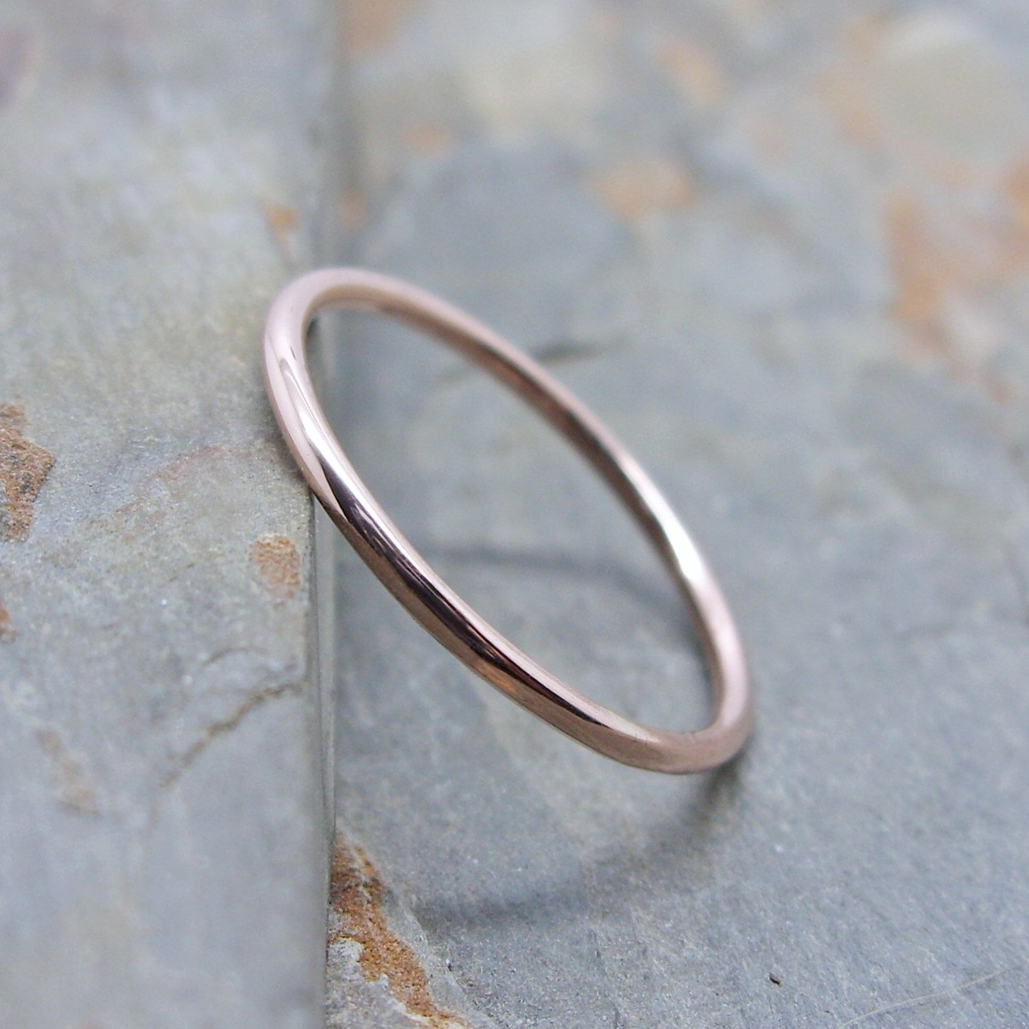 simple thin ring rings hammered solid womans band products wedding s woman gold