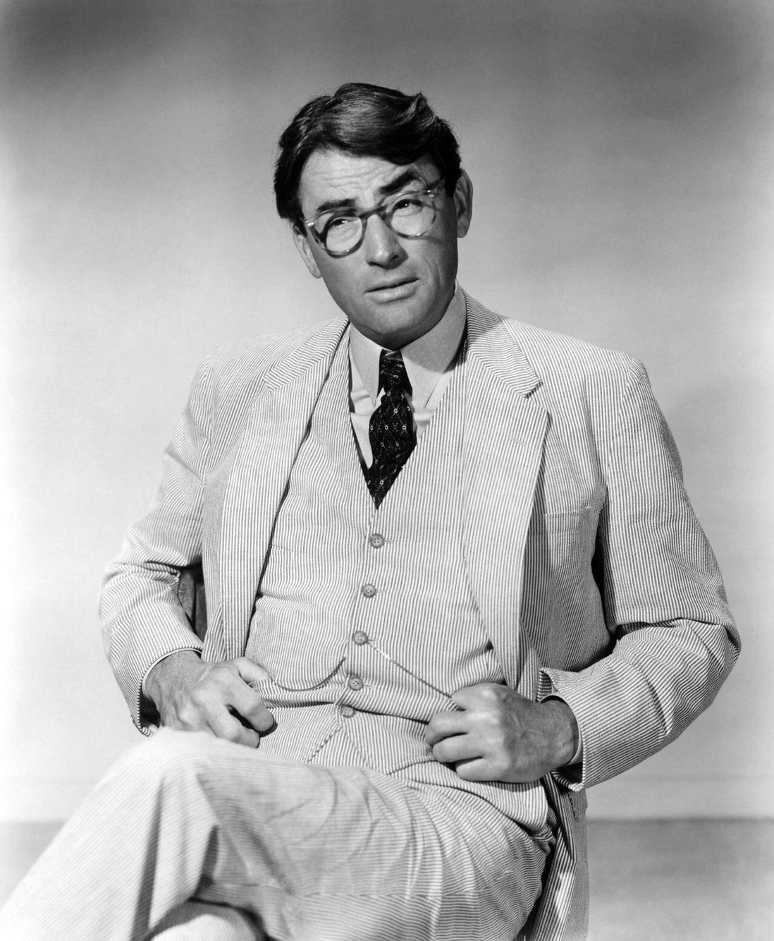 Gregory Peck as Atticus Finch in seersucker Classic
