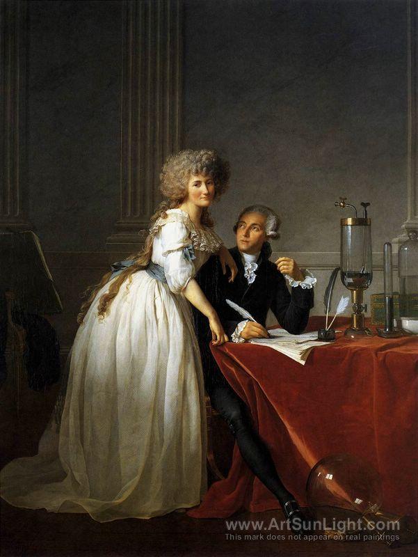 Portrait of Antoine-Laurent and Marie-Anne Lavoisier, Monsieur Lavoisier and his Wife - Jacques-Louis DavidJacques-Louis David (French 1748–1825) [Neoclassicism] Portrait of Antoine-Laurent and Marie-Anne Lavoisier. (Monsieur Lavoisier and his Wife), 1788.