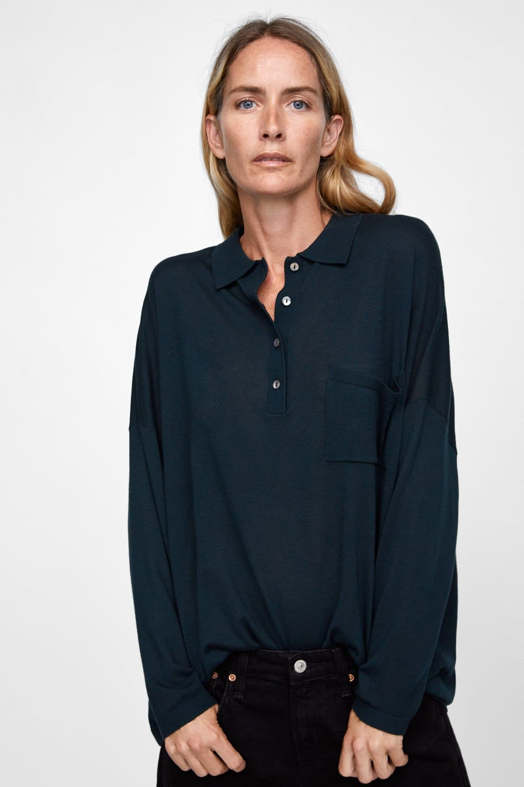 77b16dc82ea45d Image 2 of OVERSIZED POLO SHIRT from Zara | Winter/Fall Style ...