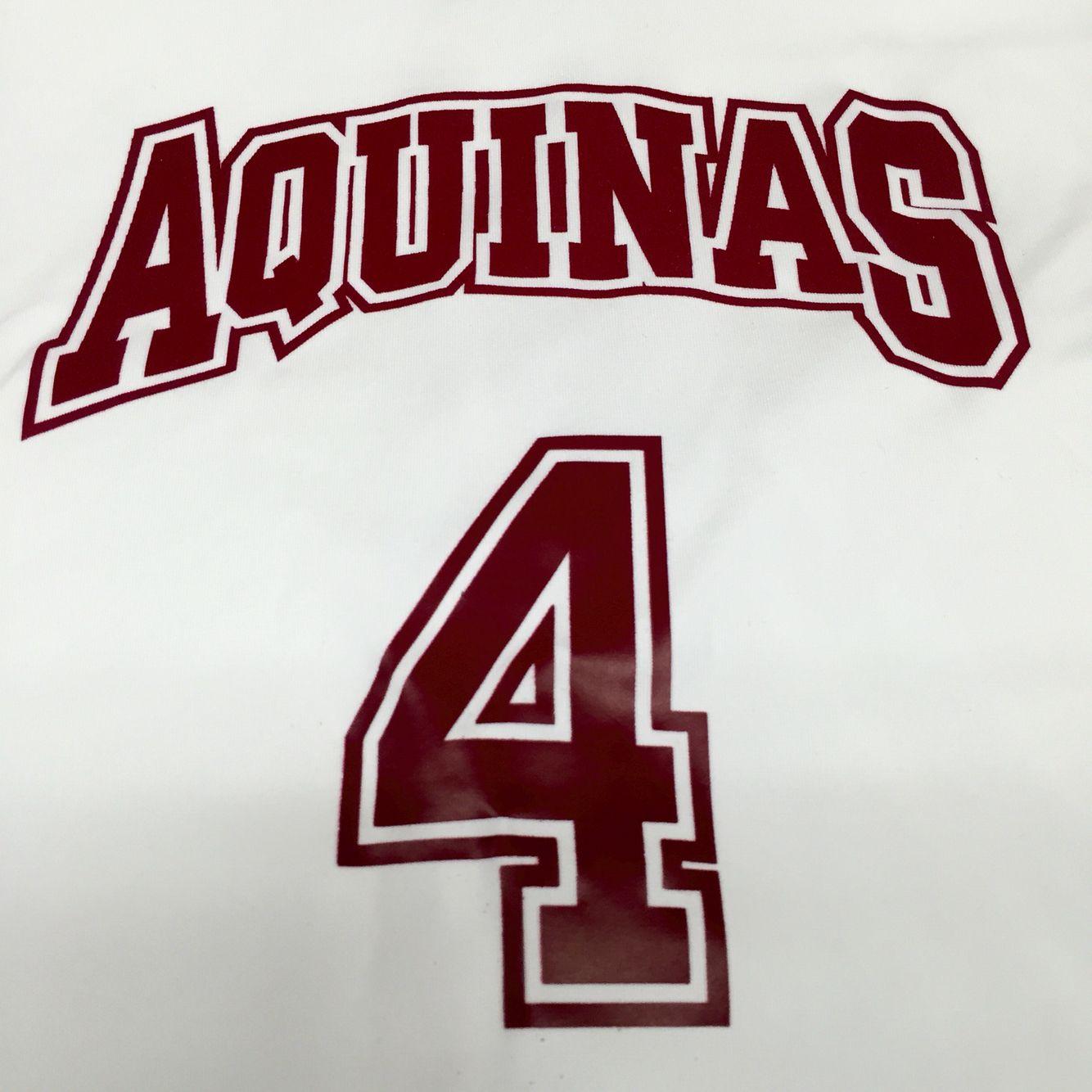 Brand new jerseys for the Aquinas Girls' Varsity Soccer Team! #design #custom #graphicdesign #embroidery #screenprinting #tshirt #apparel #soccer #jersey #team