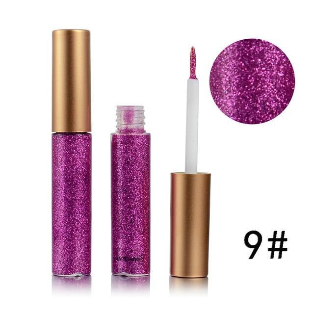 Brand New 10 Colors White Gold Glitter Eyeshadow #glittereyeliner