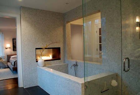 Fireplace In A Bathroom Shelterness Bathroom Fireplace Bathroom Design Luxury Bedroom Sets