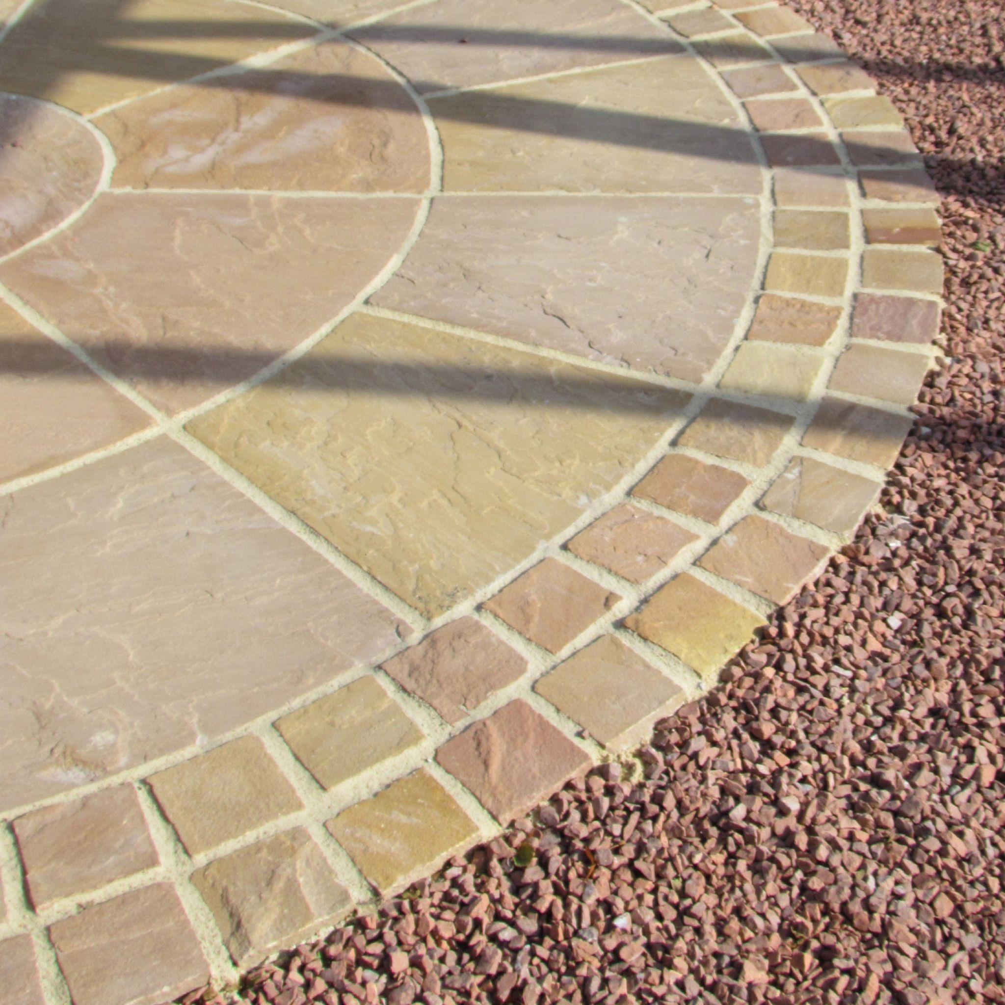 Bradstone Natural Sandstone Setts In Sunset Buff Patio Pavers Design Garden Slabs Sandstone Paving