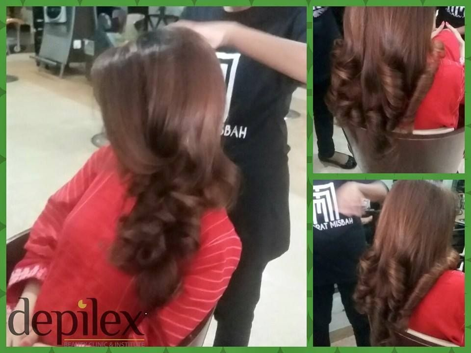 Curled Outward Blow Dry By Sheroona At Depilex Dha Lahore