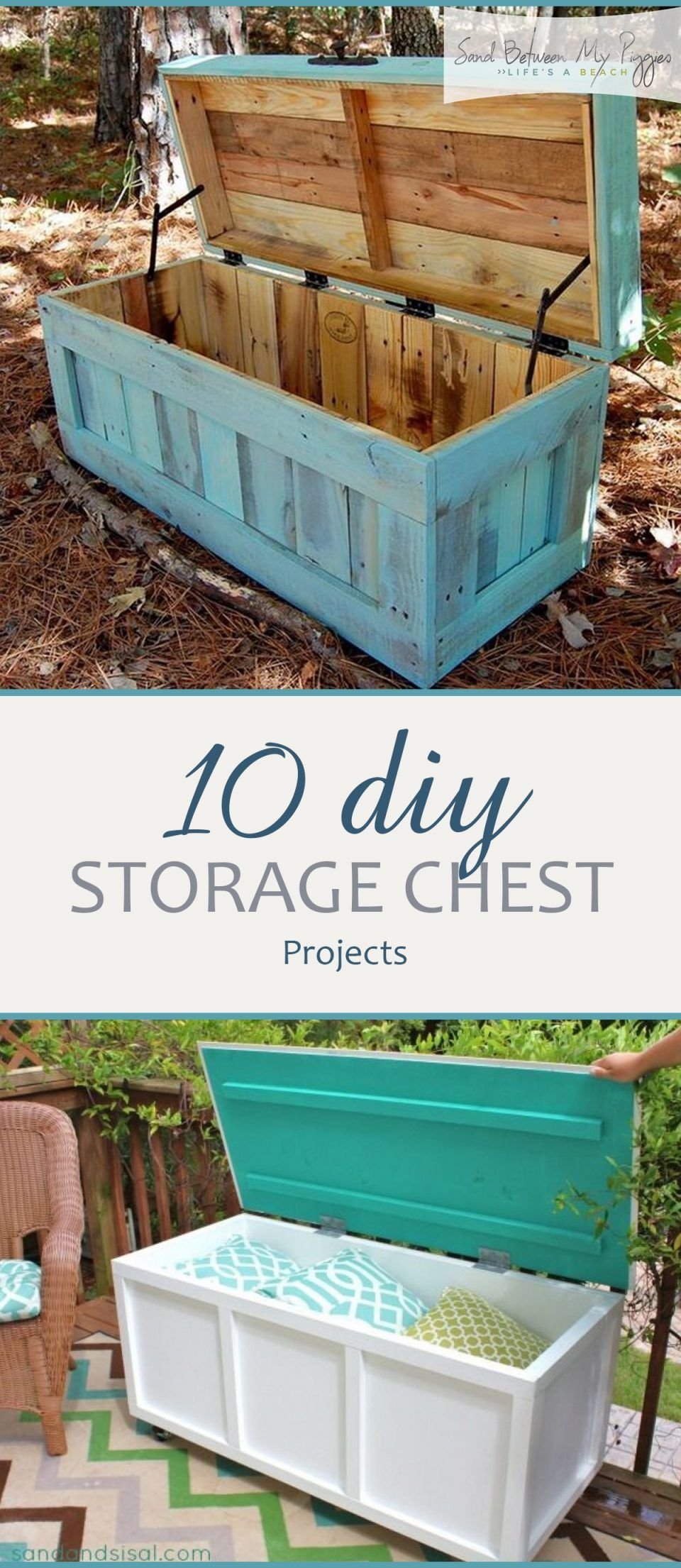 Photo of 10 DIY Storage Chest Projects | Sand Between My Piggies
