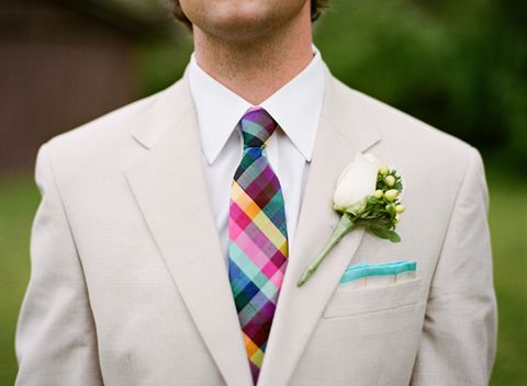 "Men's Formal Wear: ""One of my big don'ts: Please do not match the vests to the bridesmaids' dresses. This is not your high school prom."" ~ David Tutera"