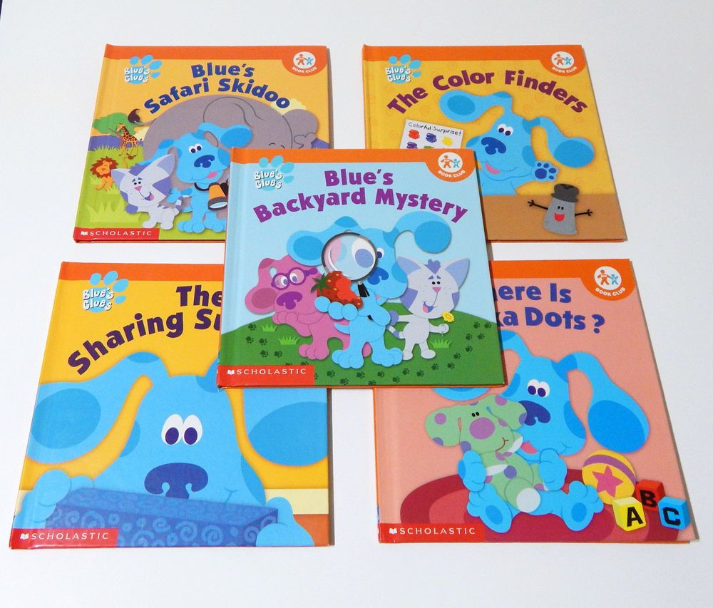 Lot Of 5 Blues Clues Hardcover Scholastic Books Count Share Color Mystery Scholastic Book Favorite Childrens Book Blue S Clues