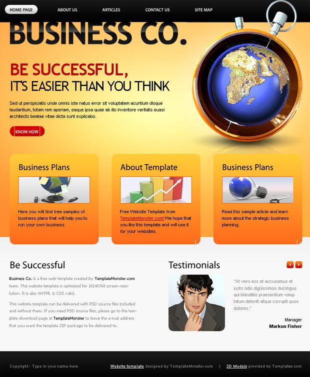 Must have free website template for business company business free website template for business company flashek Choice Image