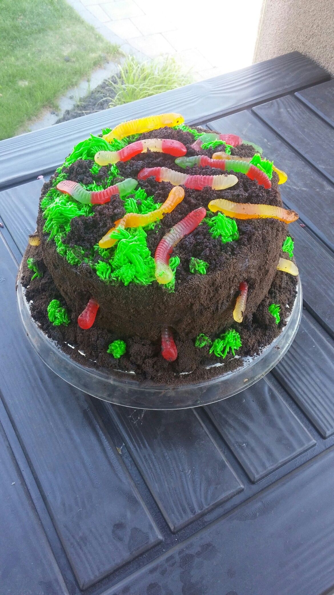 Worms And Dirt Cake Chocolate Fudge Cake Chocolate Buttercream