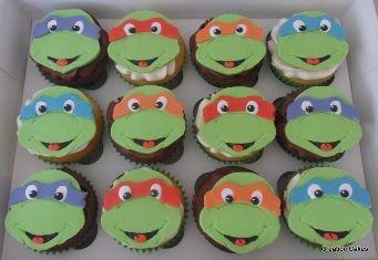 Ninja Turtle Cupcakes cakes i like Pinterest Ninja turtle