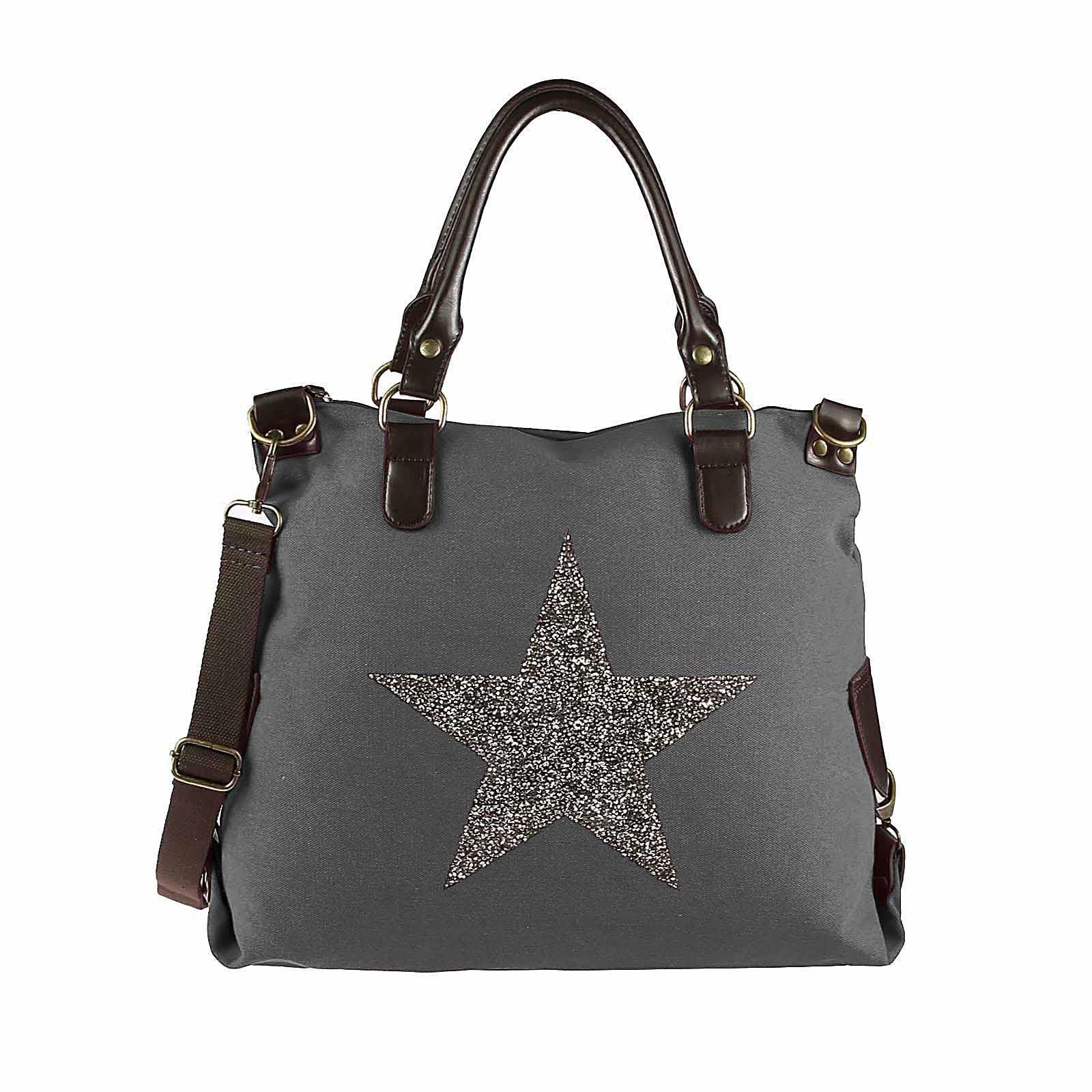 ital design DIN A4 Stern Tasche Handtasche Leder Damentasche
