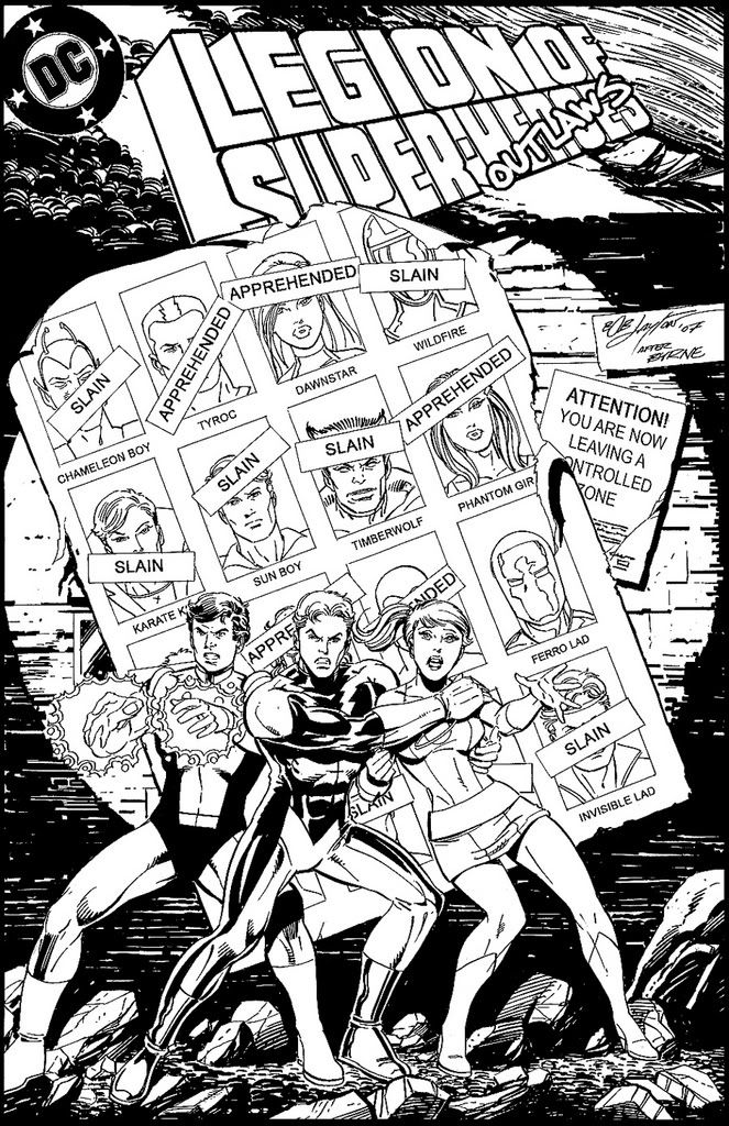 The Legion S Days Of Future Past A One Of A Kind Cover Commission From Bob Layton It S An X Men 14 Legion Of Superheroes Superhero Coloring Comic Books Art