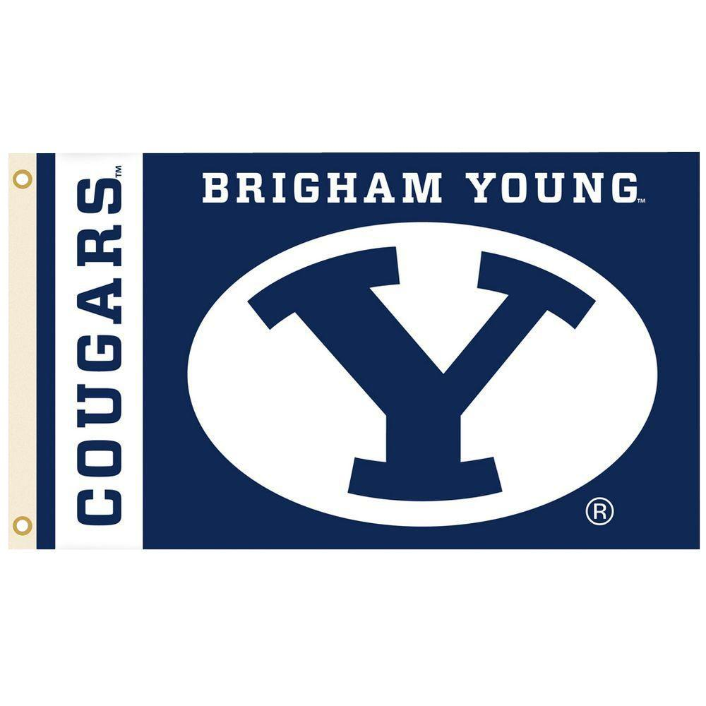 Bsi Products Ncaa 3 Ft X 5 Ft Brigham Young Flag 95083 The Home Depot In 2020 Byu Cougars Team Sports Gifts Brigham Young