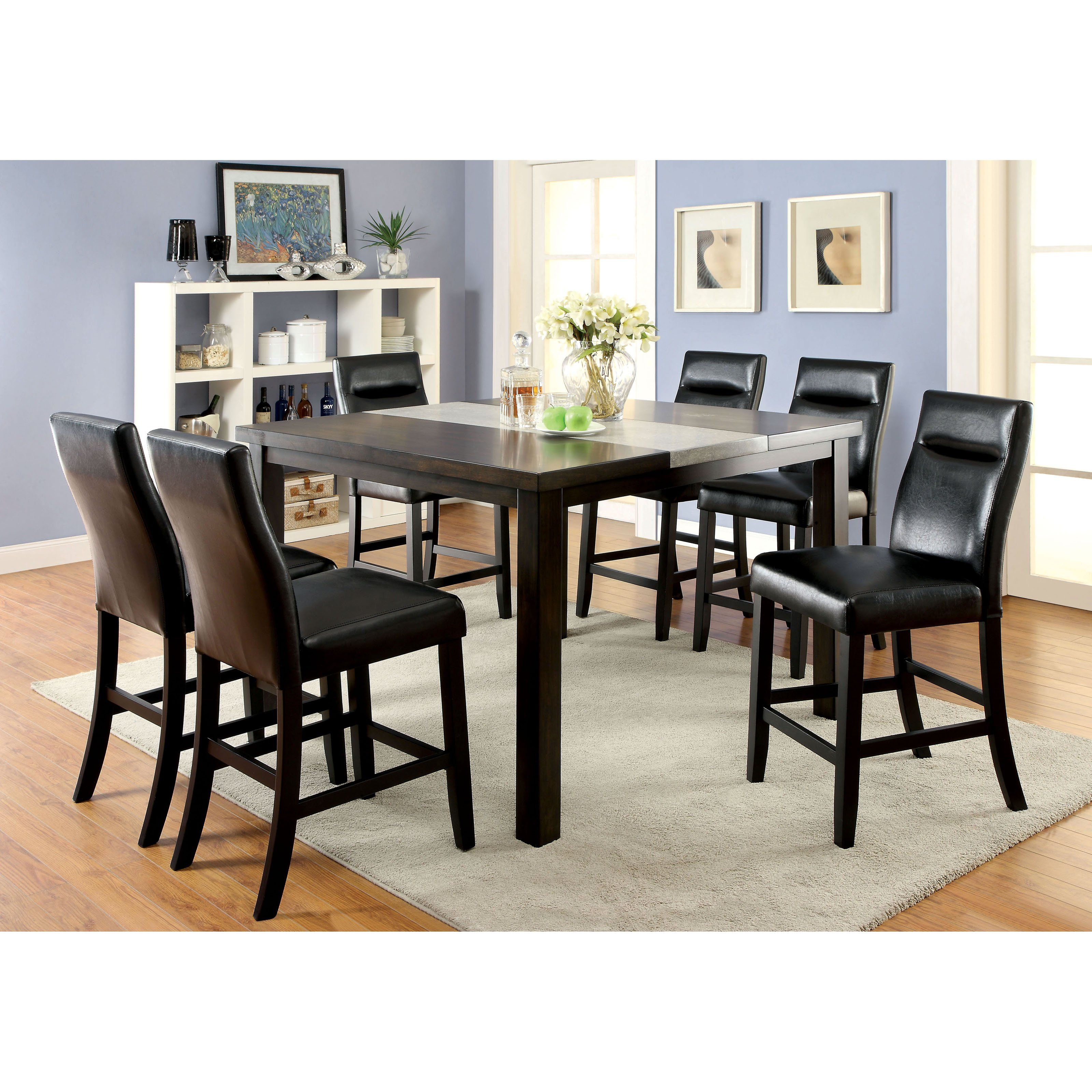 Industrial Counter Height Dining Table Furniture Of America Dewalt Industrial 7 Piece Counter Height