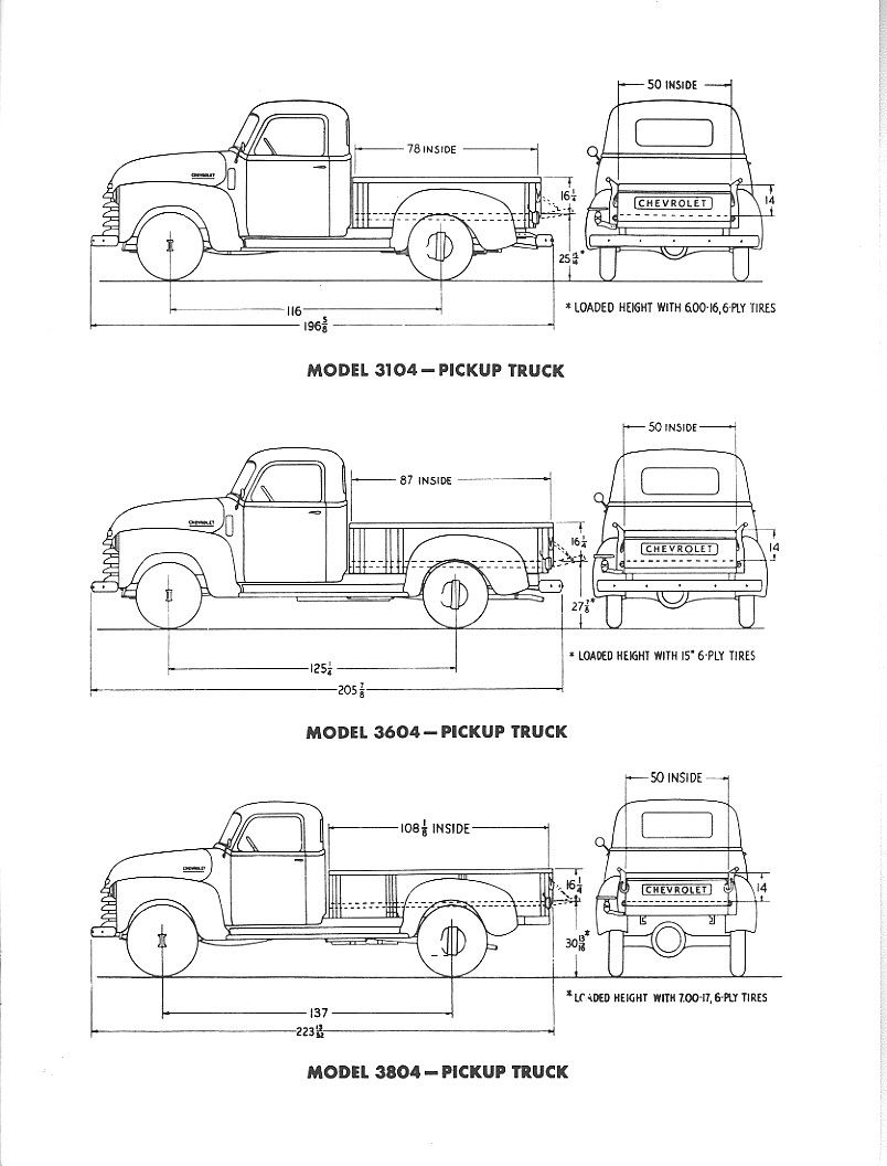 Original Dimensions Pickup Trucks Classic Chevy Trucks Chevy
