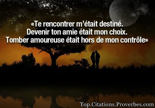 Citation rencontre amoureuse destin