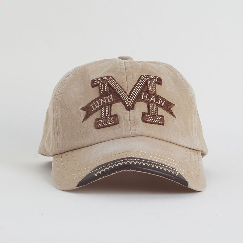 a8477274 Cotton Embroidery Letter W Baseball Cap Snapback Caps Bone casquette Hat  Distressed Wearing Fitted Hat For
