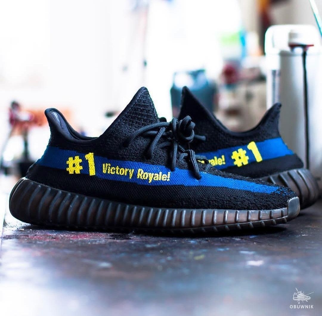 3d0d7112daa What are you thoughts on these victoy royale yeezys  Done by  obuwnik  yeezy