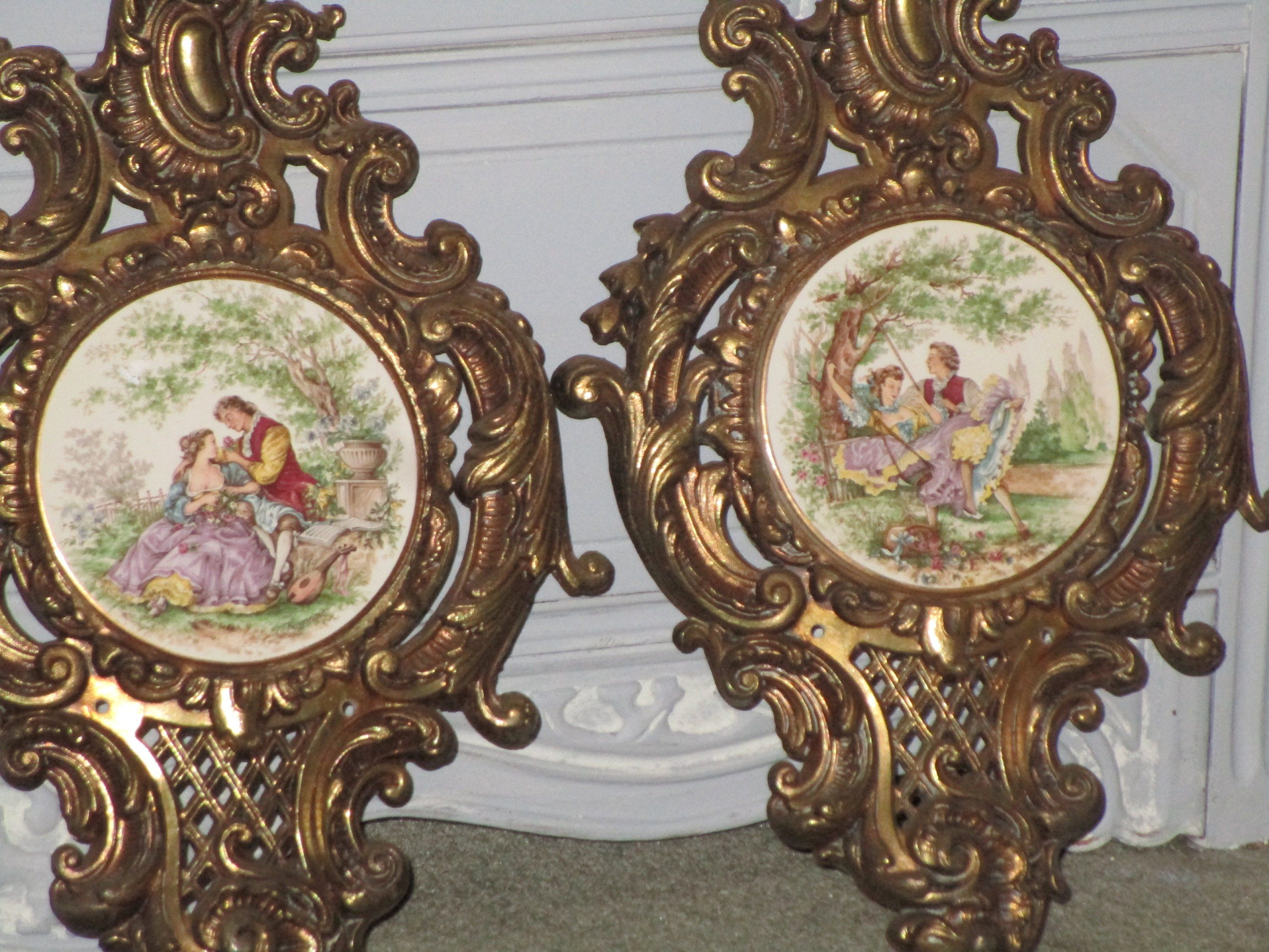 Reduced French Victorian Baroque Wall Decor Heavy Metal Etsy