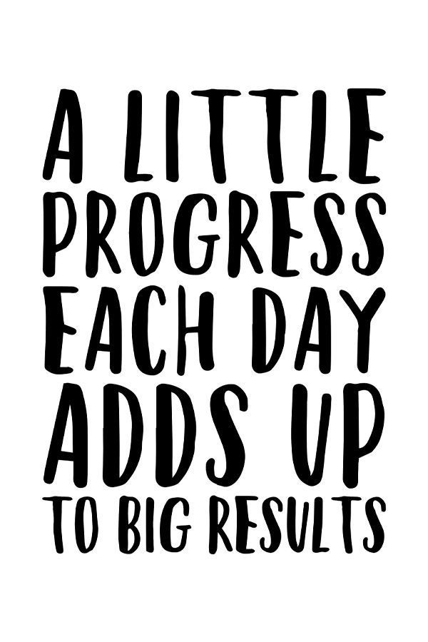 A Little Progress Each Day Adds Up To Big Results, Motivational Poster, Fitness Motivation, Inspirational Wall Art, Instant Download, Prints