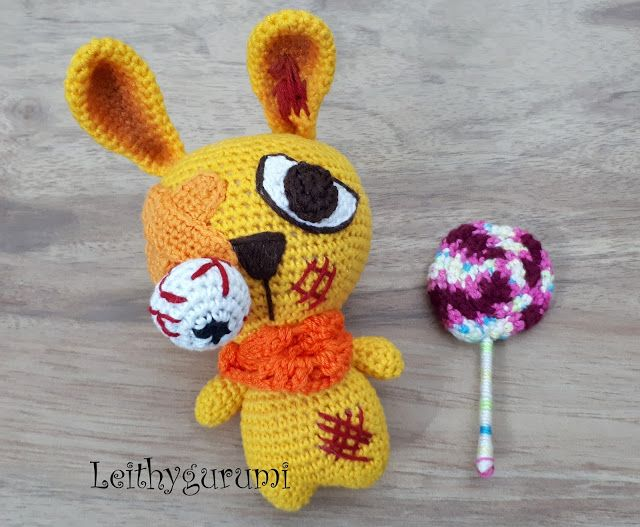 Amigurumi Halloween Free : Freaky bunny for halloween terrible rabbit free pattern crochet