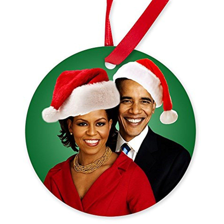 CafePress - Obama Christmas - Round Christmas Ornament *** Want to ...