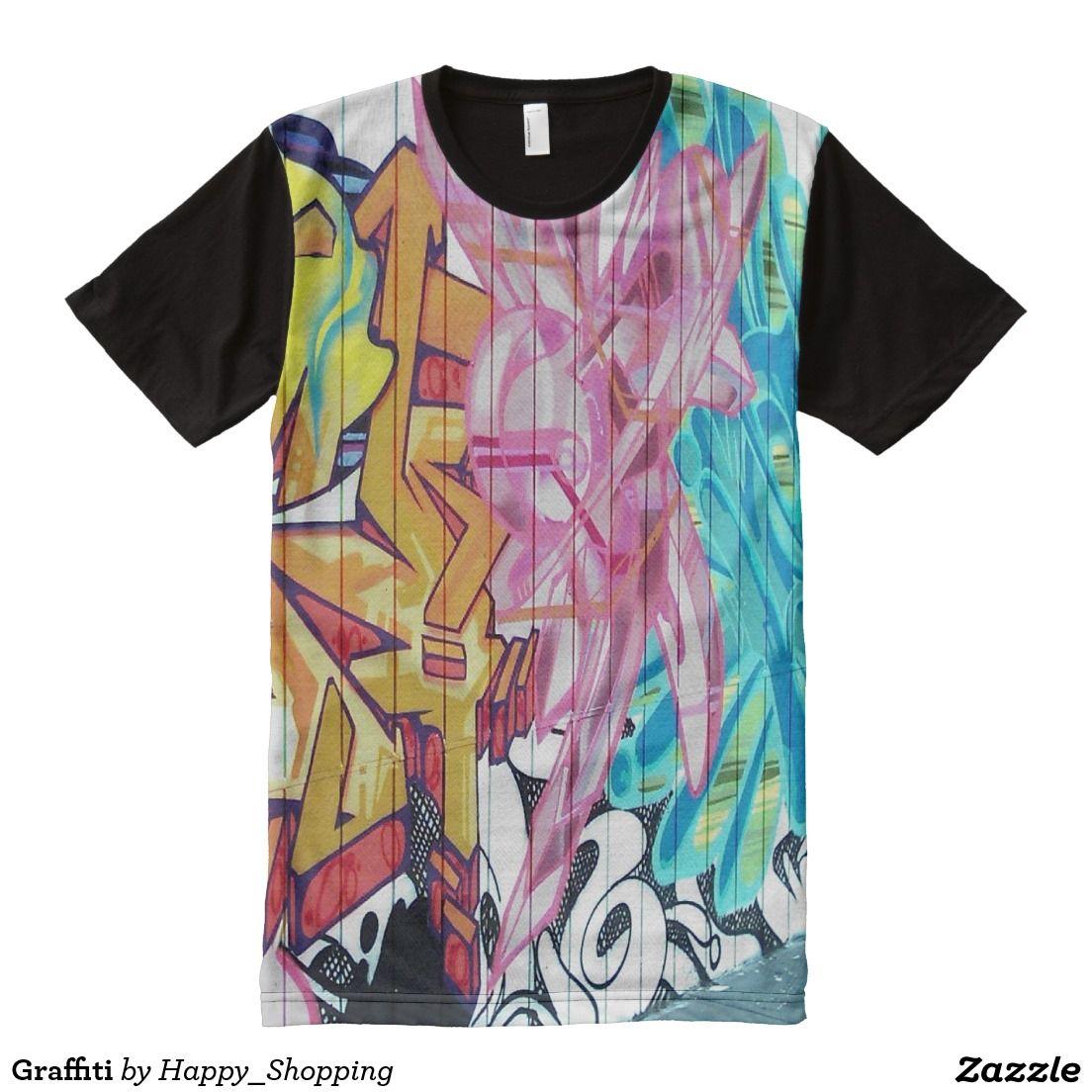 Graffiti All Over Print T Shirt Cool T Shirts T Shirt Shirts
