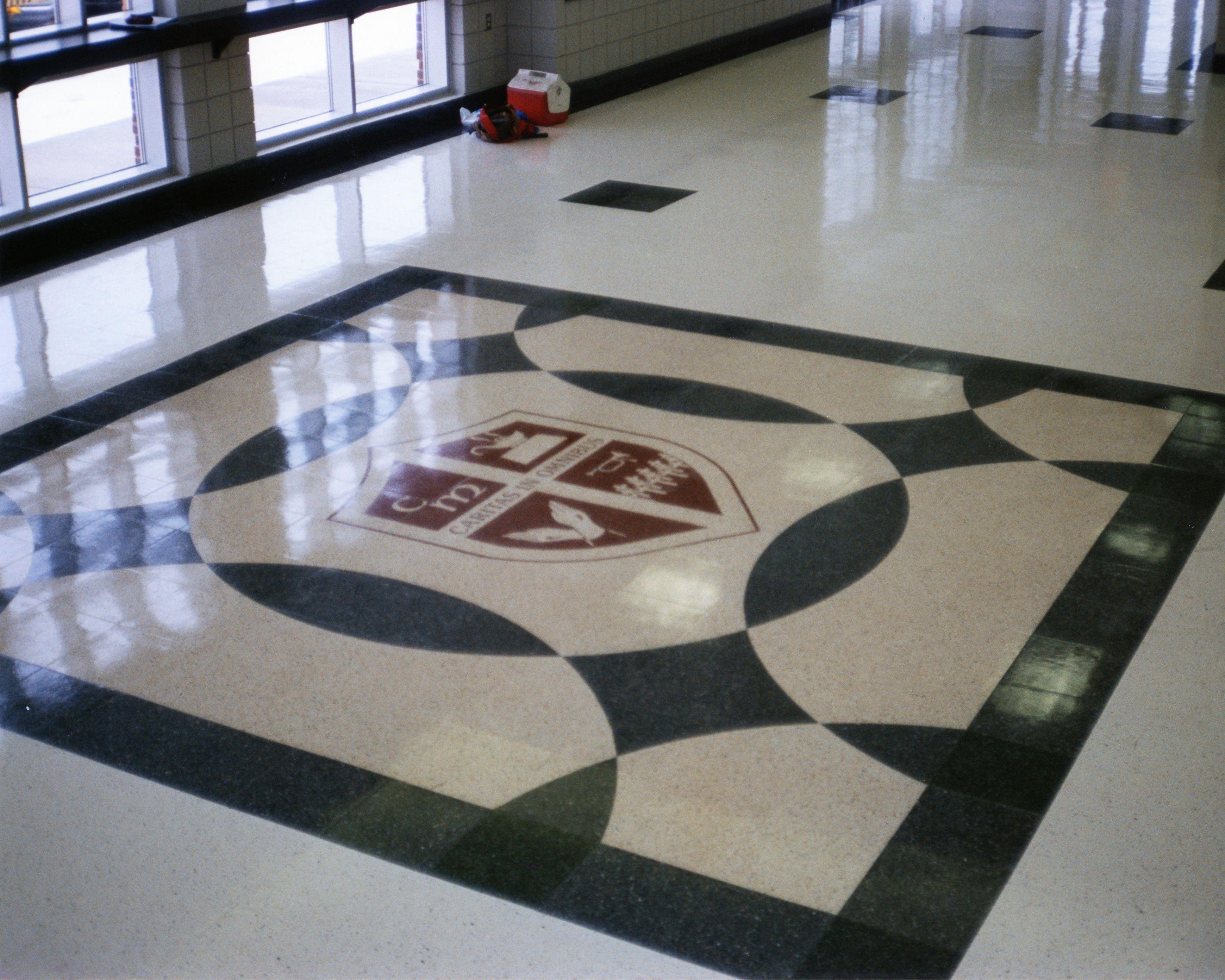 Floor Tile Schools : High school foyer floor fritztile terrazzo tile