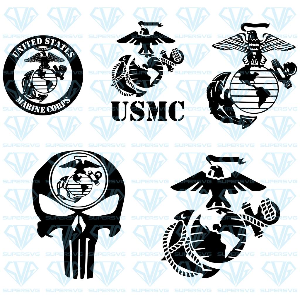 USMC United States Marine Corps Emblem Logo SVG Files For