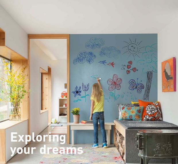Dulux Dryerase Turn Walls Into Erasable Whiteboards