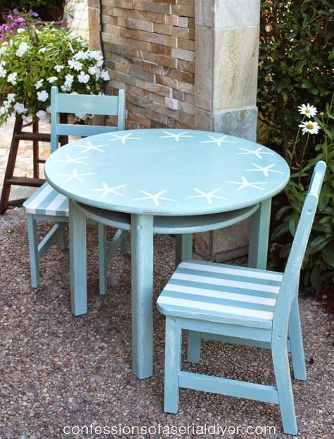 Starstruck  DIY Coastal Starfish Stencil Ideas For Furniture | Strandhäuser,  Tisch Und Möbel