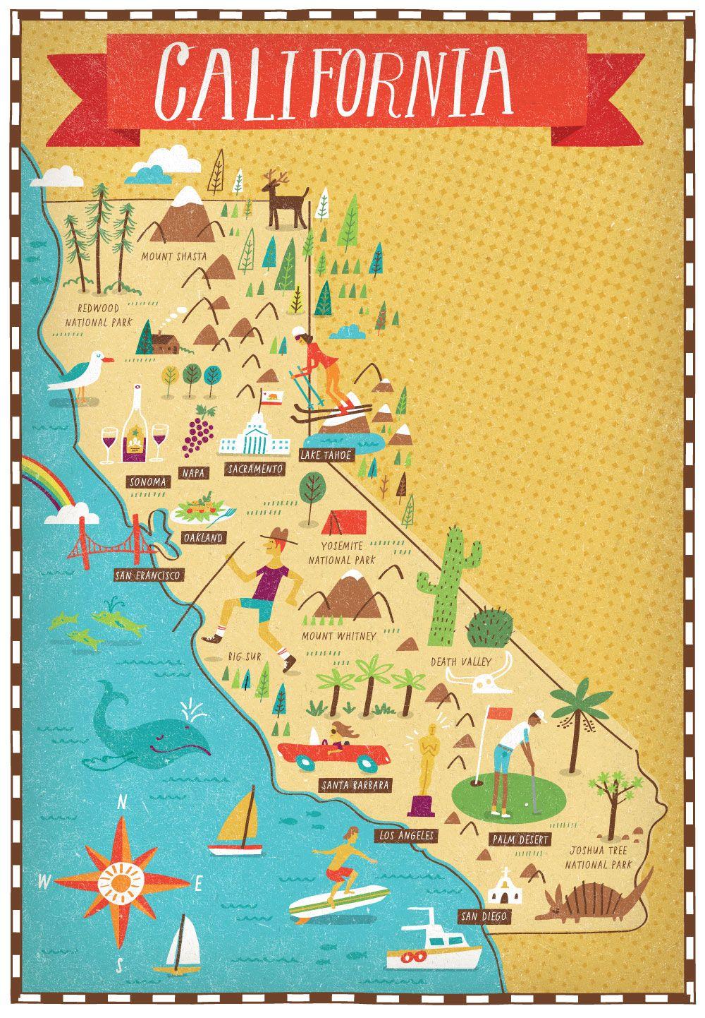 California Map Prints Maps Cities Countries Pinterest - Mapa california