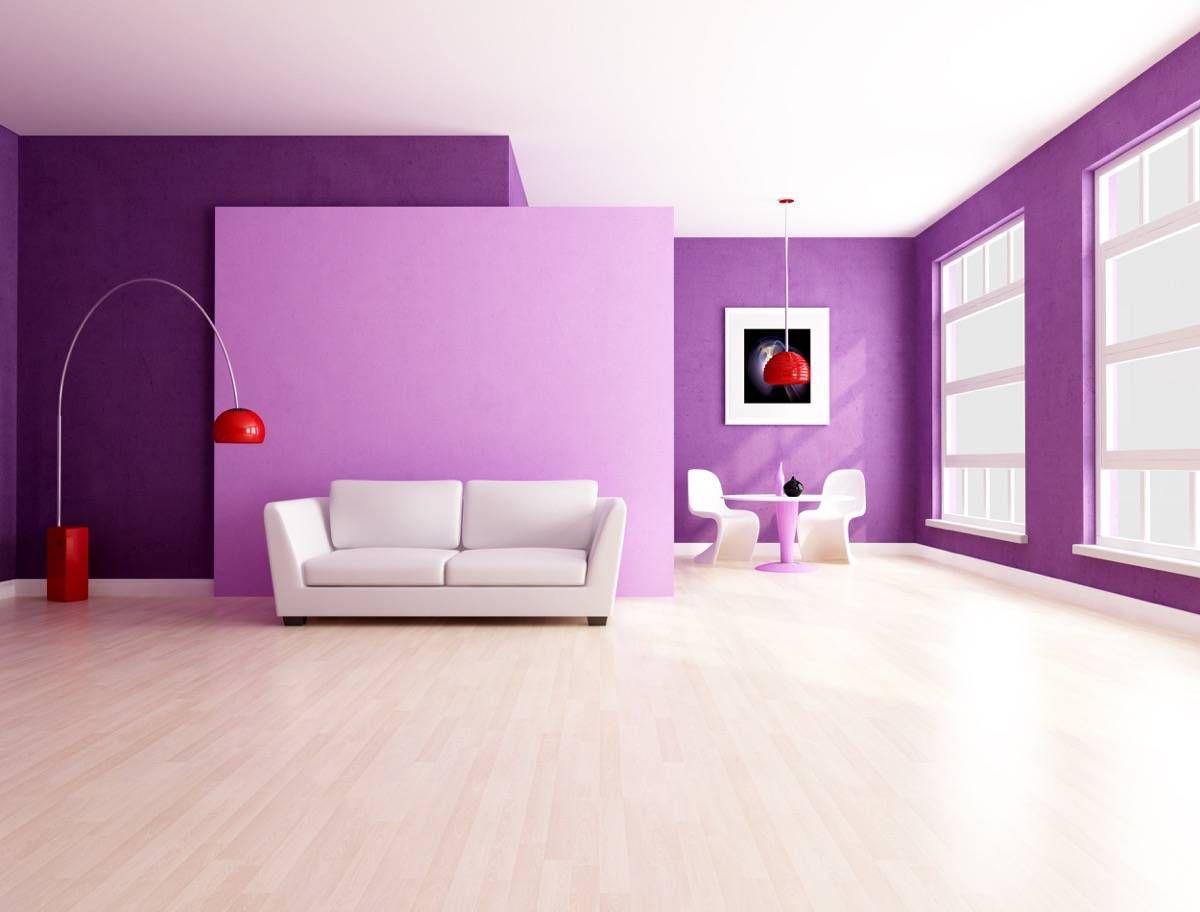 Inspiración para decorar un salón lila y gris  Decoracion de
