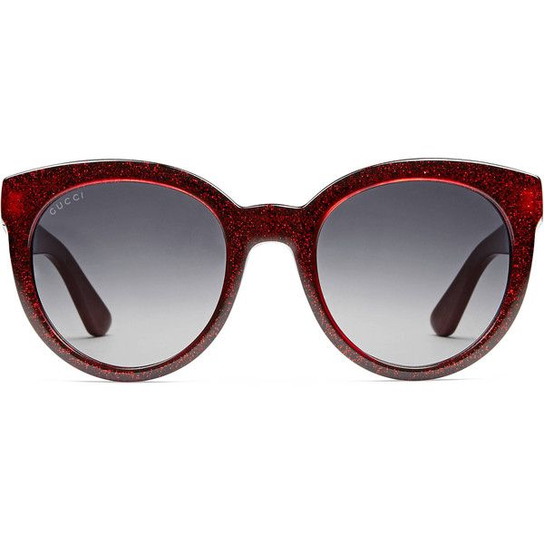 d91cb6e67b5 Gucci Round-Frame Optyl Sunglasses ( 310) ❤ liked on Polyvore featuring  accessories