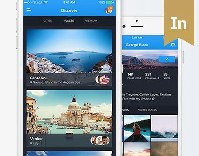 """다음 @Behance 프로젝트 확인: """"90Cities - iOS Travel UI Kit"""" https://www.behance.net/gallery/40607911/90Cities-iOS-Travel-UI-Kit"""